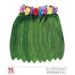 Gonna HAWAIANA  con foglie di banano con cintura fiori
