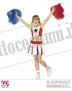 Costume CHEERLEADER 2 PEZZI