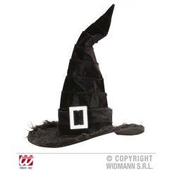 Cappello STREGA bordato in peluche con fibbia