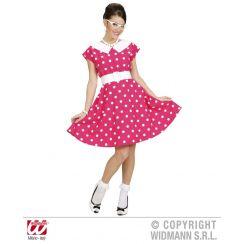 Costume DONNA anni 50 con sottogonna rosa