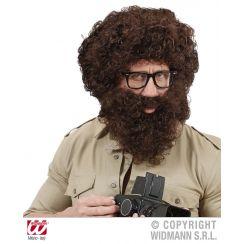 Parrucca e barba KNECHT RUPRECHT castana