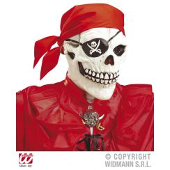 Maschera TESCHIO PIRATA con bandana e orecchino