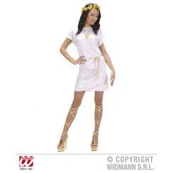 Tunica unisex BIANCA con cintura oro