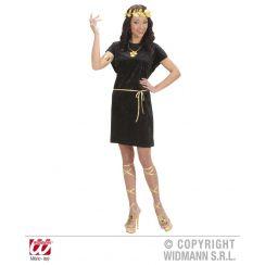 Tunica unisex NERA corta e cintura oro