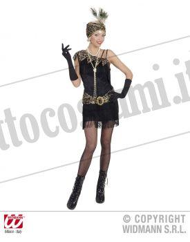Costume CHARLESTON ANNI 20 nero