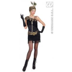 Costume CHARLESTON ANNI 20 nero XL