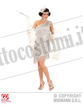 Costume CHARLESTON SCINTILLANTE ARGENTO