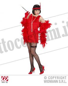 Costume CHARLESTON lusso rosso XL
