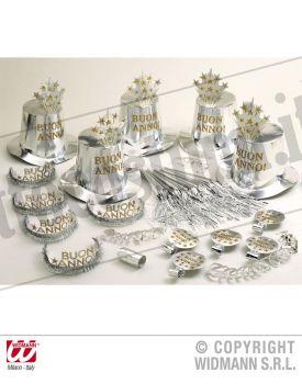 Party kit BUON ANNO argento