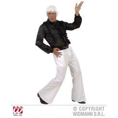 Pantaloni bianchi a ZAMPA D'ELEFANTE in tessuto pesante XL