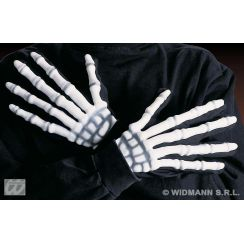 Guanti scheletro 3D fosforescenti