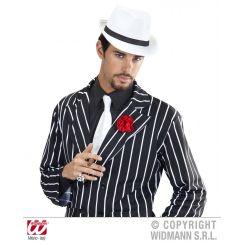 Cappello GANGSTER classico bianco fascia nera