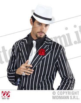 Cappello GANGSTER classico bianco fascia nera 8dea1dd248d0