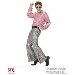 Pantaloni in tessuto OLOGRAFICO ARGENTO