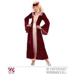 Costume REGINA MEDIEVALE rosso