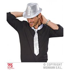 Cappello FEDORA IN PAILLETTES ARGENTO