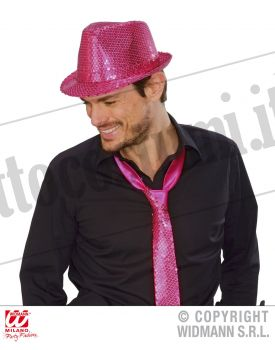 Cappello FEDORA IN PAILLETTES PINK