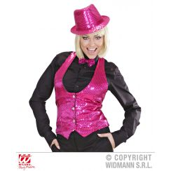GILET IN PAILLETTES PINK  donna