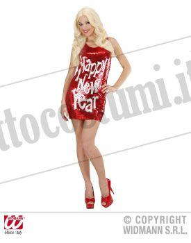 Vestito in pailettes HAPPY NEW YEAR